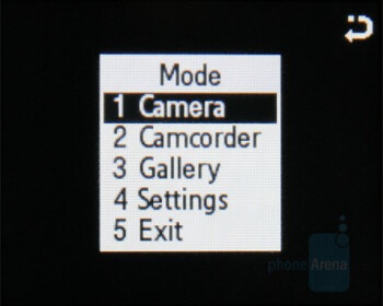 Camera interface - Samsung miCoach Review