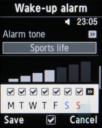 Alarms - Samsung miCoach Review