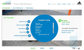miCoach Website interface - Samsung miCoach Review