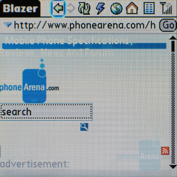 Palm Blazer web browser - Palm Centro AT&T Review