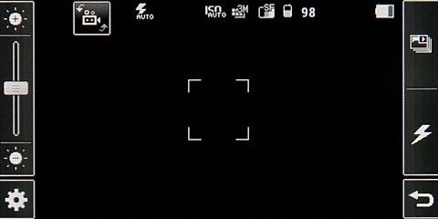 Camera interface - LG KF700 Preview