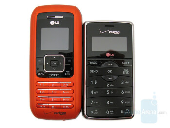 LG enV2 (right and bottom) comp