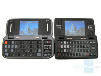 LG enV2 (right and bottom) compared to LG enV (left and top) - LG enV2 Review