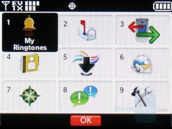 Main menu - LG enV2 Review