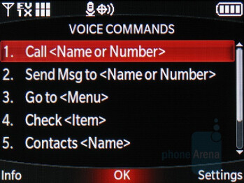 Voice commands - LG enV2 Review