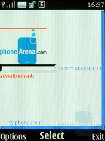 Web browser - Nokia 8800 Arte Review