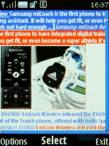 Web browser - Nokia 8800 Arte Review