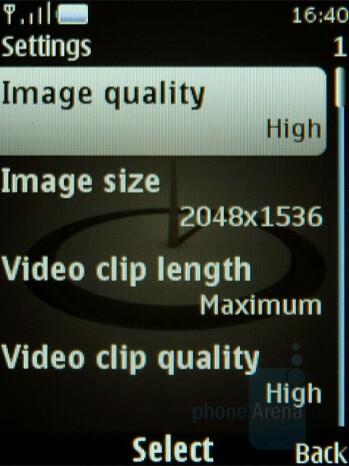 Camera interface - Nokia 8800 Arte Review