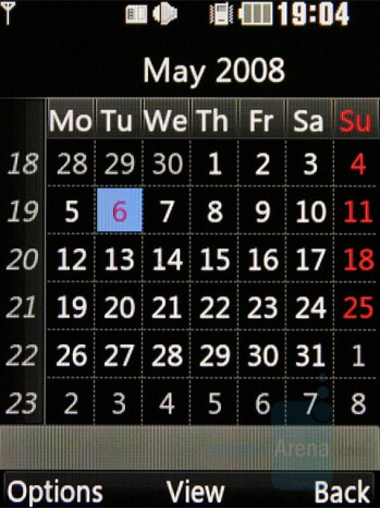 Calendar - LG KF510 Review