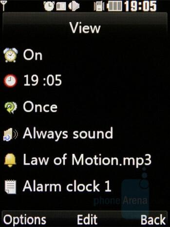 Alarm - LG KF510 Review
