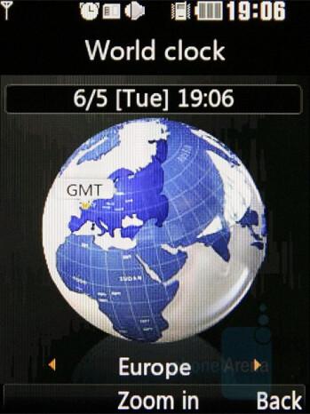 World Clock - LG KF510 Review