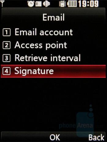 E-Mail Setup - LG KF510 Review