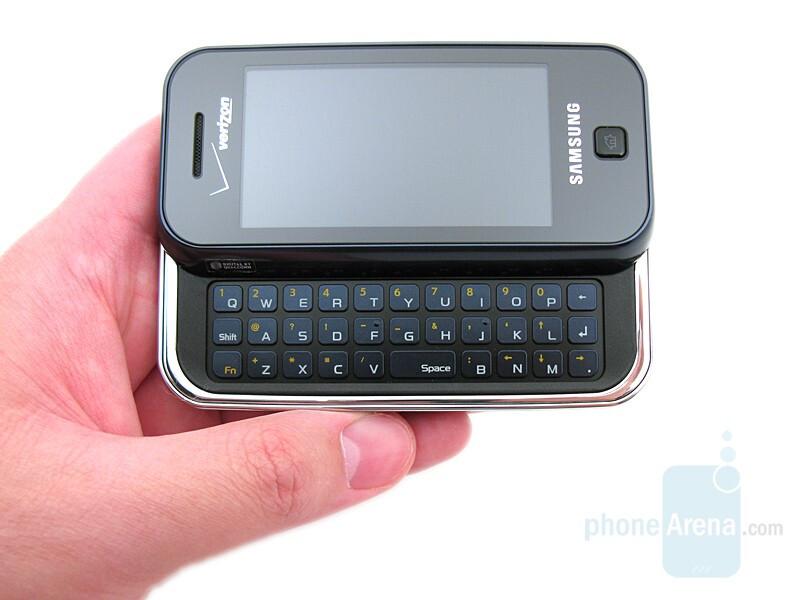 samsung glyde review rh phonearena com Samsung Instinct Samsung Phone Slide Up