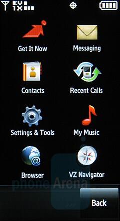 Main menu - Samsung Glyde Review