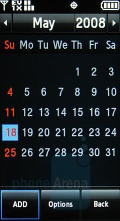 Calendar - Samsung Glyde Review