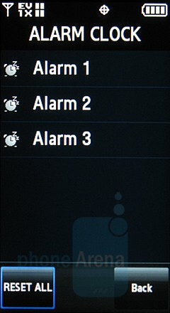 Alarms - Samsung Glyde Review