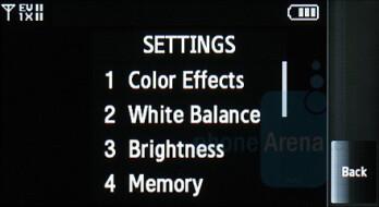 Camera interface - Samsung Glyde Review