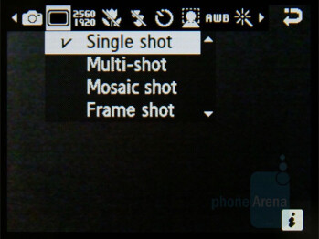 Camera interface - Samsung Soul Review