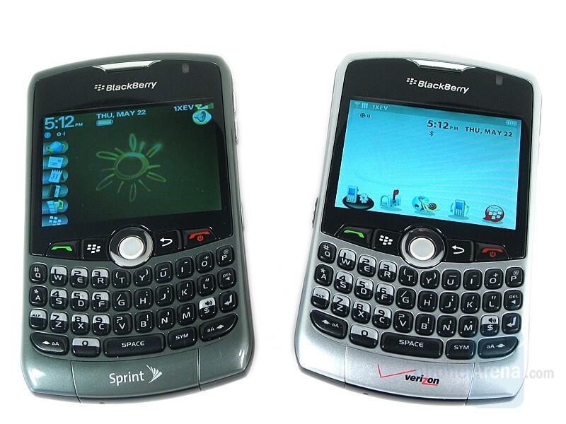 Left - Dark Titanium, Right - Bright Silver - RIM BlackBerry Curve 8330 Review