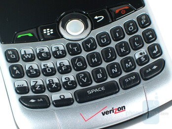 QWERTY keypad - RIM BlackBerry Curve 8330 Review