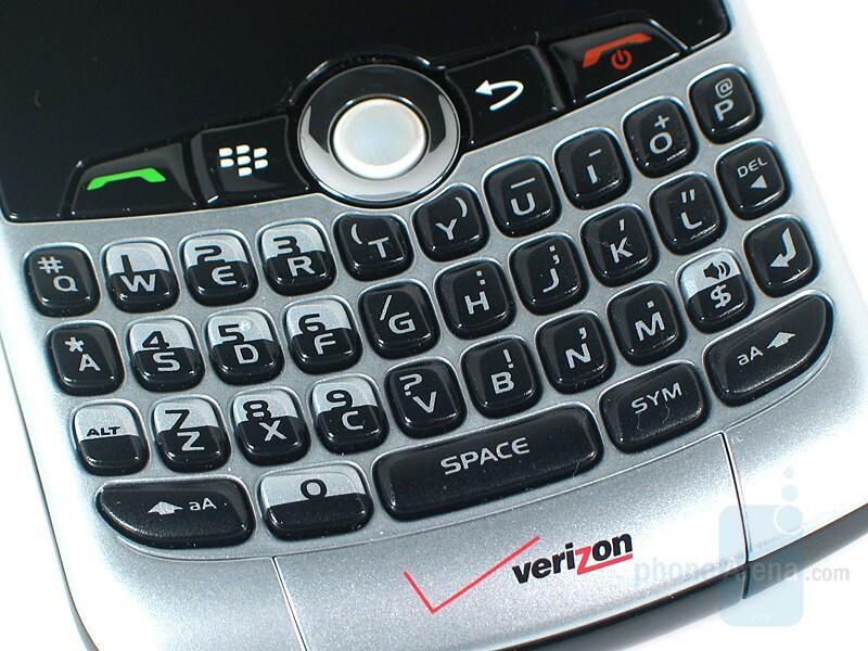 QWERTY keypad - RIM BlackBerry Curve 8330 Review
