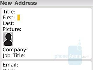 Phonebook - RIM BlackBerry Curve 8330 Review