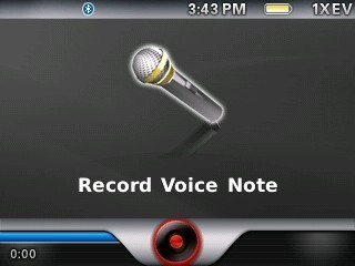 Voice note recorder - RIM BlackBerry Curve 8330 Review