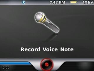 Voice note recorder - RIM BlackBerry Curve 8330 Review