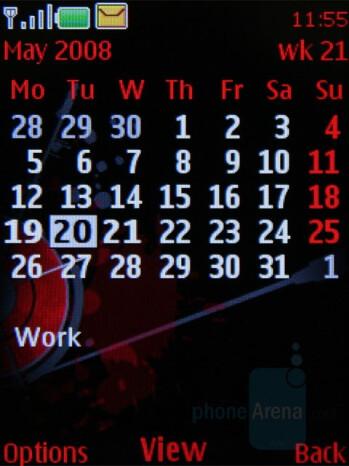 Calendar - Nokia 5610 XpressMusic Review