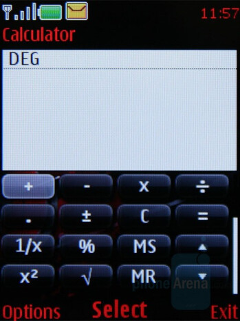 Science calculator - Nokia 5610 XpressMusic Review
