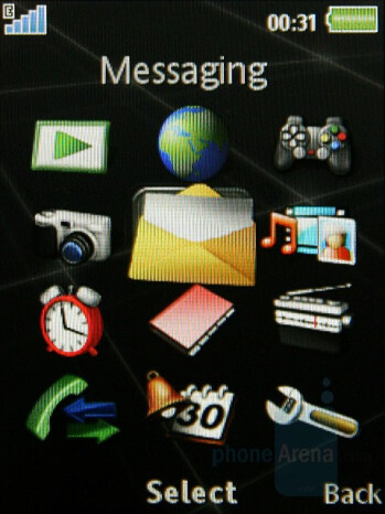 Main Menu - Sony Ericsson G502 Review