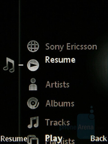 Media Menu - Sony Ericsson G502 Review