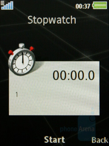 Stopwatch - Sony Ericsson G502 Review