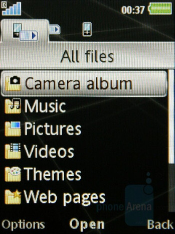 File Manager - Sony Ericsson G502 Review