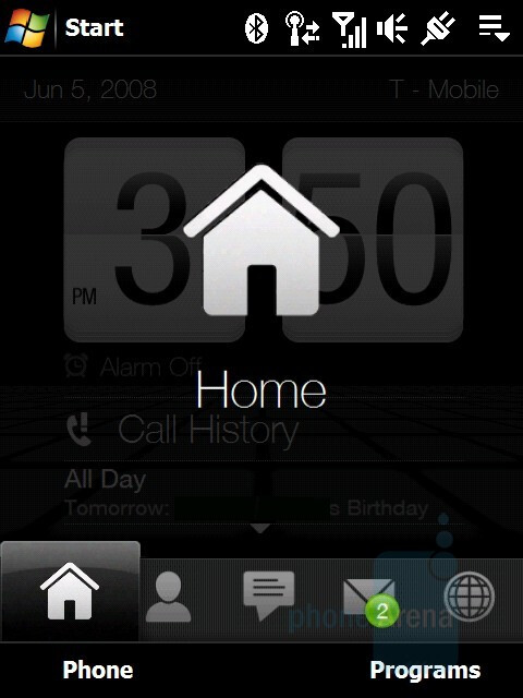 Home screen - HTC Touch Diamond Review