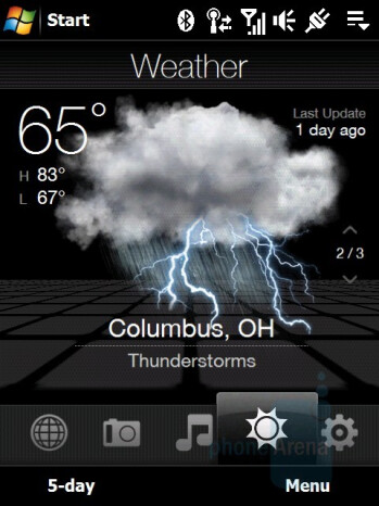 Weather - HTC Touch Diamond Review