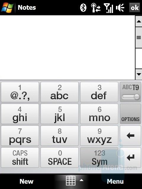 Onscreen keyboard types - HTC Touch Diamond Review