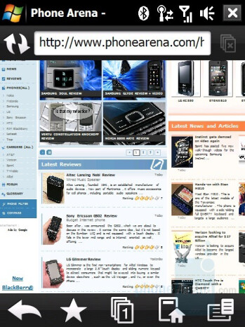 Opera browser - HTC Touch Diamond Review
