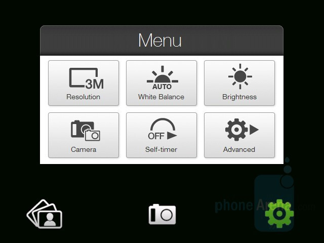 Camera interface - HTC Touch Diamond Review