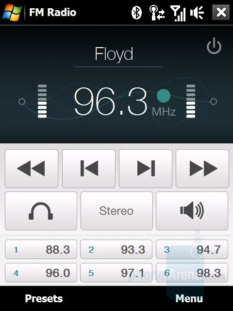 FM Radio - HTC Touch Diamond Review