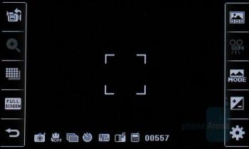 Camera interface - LG Vu Review