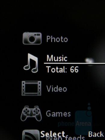 Media Menu - Sony Ericsson W980 Preview