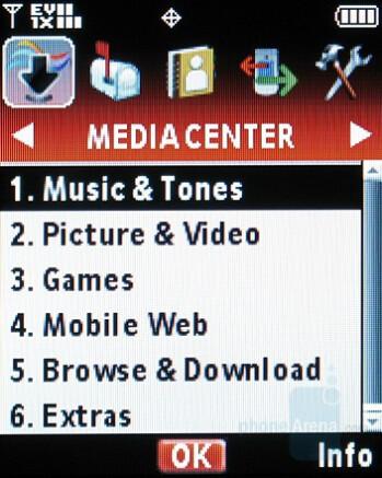 Classic menu - Motorola W755 Review