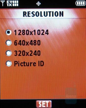 Camera interface - Motorola W755 Review