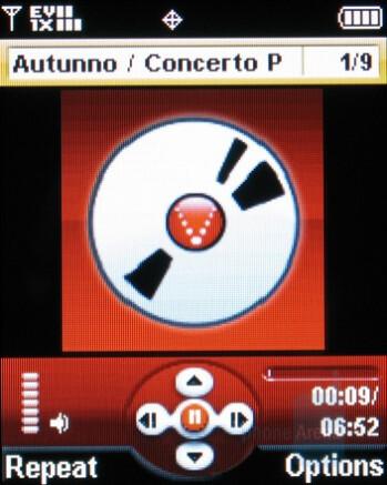 Music player - Motorola W755 Review