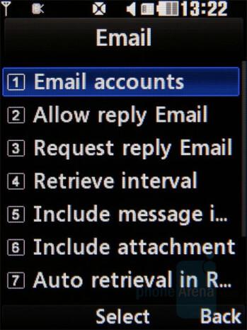 Email client setup - LG Secret Review