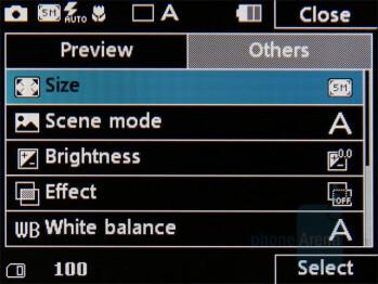 Camera interface - LG Secret Review