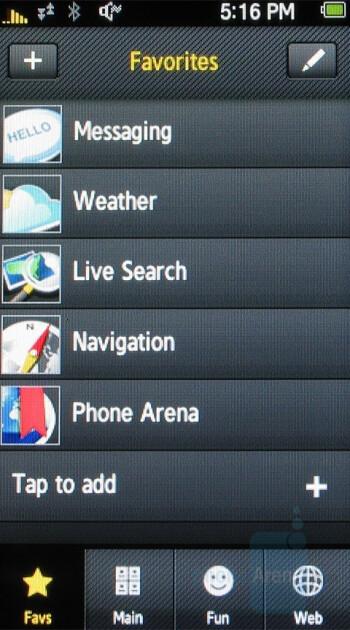 Favs - Samsung Instinct Review