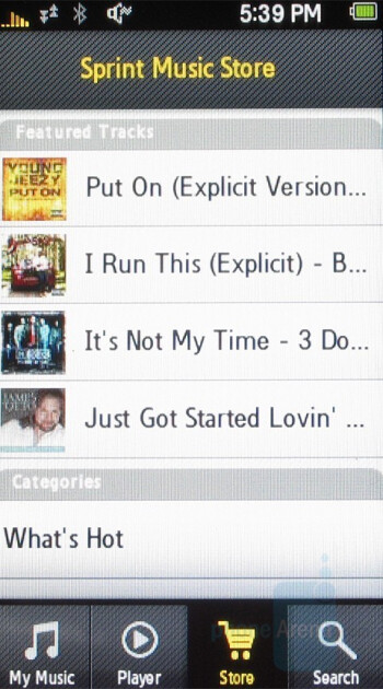 Sprint Music Store - Samsung Instinct Review