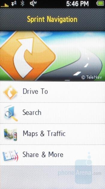 Sprint Navigation - Samsung Instinct Review